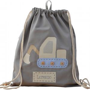 worek plecak z imieniem koparka