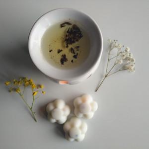 wosk zapachowy - lawenda z wanilią, 4 sztuki