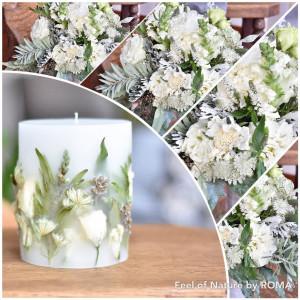 Wykonanie świecy z bukietu ślubnego