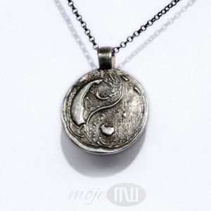 Yin i yang w deseniu