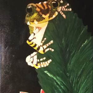 Żabka. Akryl 40x30