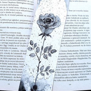 "Zakładka akwarelowa ""Czarna róża"""