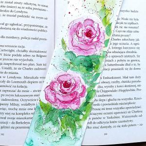 """Zakładka akwarelowa """"Różowe róże"""""""