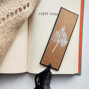 Zakładka do książek Eco Jeżówka biało-czarna