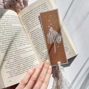 Zakładka do książek Eco Jeżówka biało-szara
