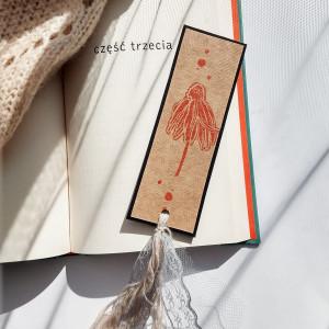 Zakładka do książek Eco Jeżówka pomarańcz-czarna