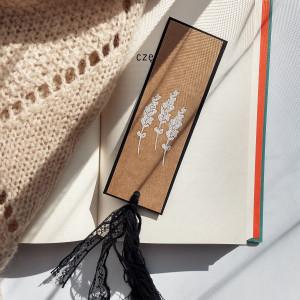 Zakładka do książek Eco Lawenda biało-czarna