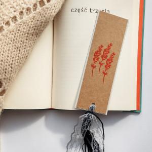 Zakładka do książek Eco Lawenda pomarańczowo-szara