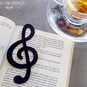 Zakładka do książki - klucz wiolinowy wz1
