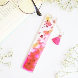 Zakładka do książki - różowy hiacynt