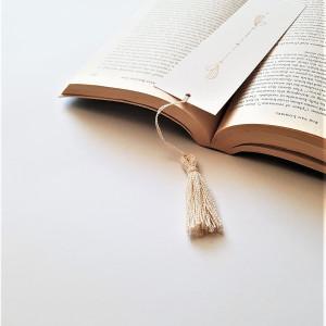 Zakładka do książki rysowana chwost len eko natura