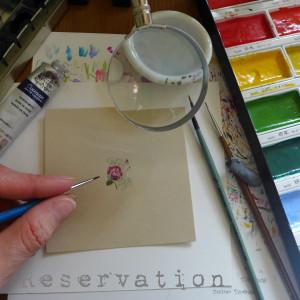 Zamówienie specjalne - Ręcznie malowane kolczyki