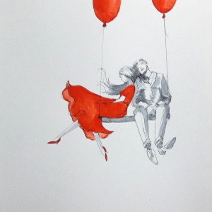 """""""ZAPACH"""" akwarela artystki Adriany Laube"""