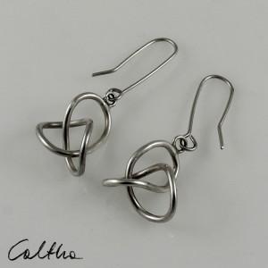 Zaplątane - srebrne kolczyki lub klipsy 180204-01