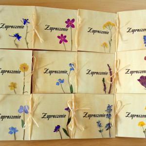 Zaproszenia ślubne naturalne kwiatowe