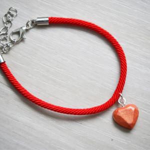 Zatopek bransoletka serce pomarańczowe