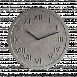 Zegar betonowy Roman Natural Szary 45cm