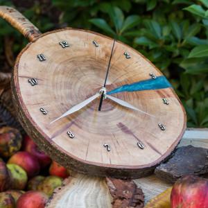 Zegar czereśnia z żywicą epoksydową C5