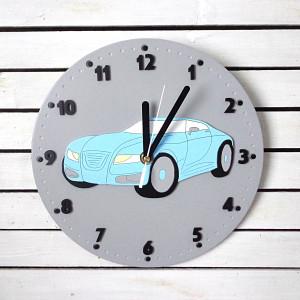Zegar dla chłopca ze sportowym autem
