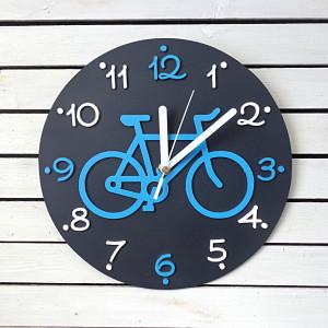 Zegar dla dziecka z rowerem