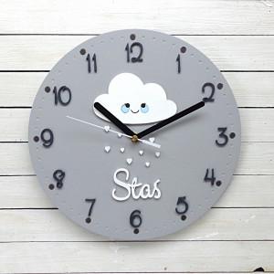 Zegar dla dziewczynki chmurka z imieniem