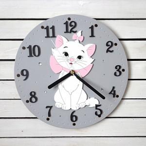 Zegar dla dziewczynki z kotkiem