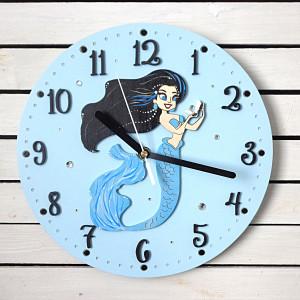 Zegar dla dziewczynki z syreną