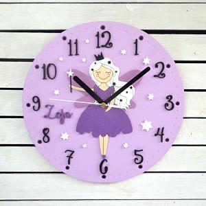 Zegar dla dziewczynki z wróżką