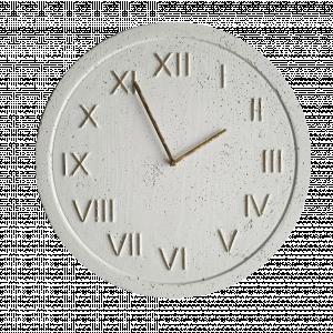 Zegar industrialny betonowy biały złoty Elegancki