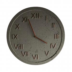 Zegar industrialny betonowy szary miedziany 45cm
