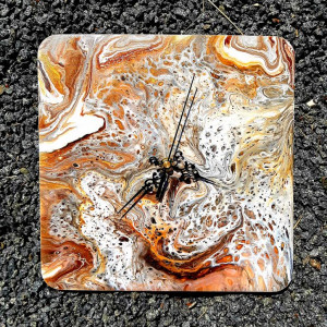 Zegar rękodzieło- brąz