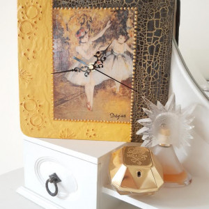 Zegar rękodzieło - Dwie tancerki - Edgar Degas