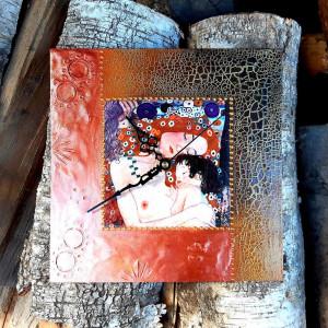 Zegar rękodzieło G. Klimt- Macierzyństwo