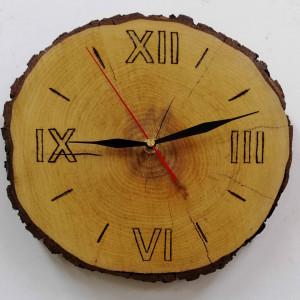 Zegar ścienny plaster drewna