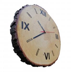 Zegar ścienny plaster drewna 2