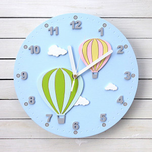 Zegar ścienny z balonami