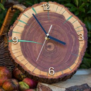 Zegar śliwa z żywicą epoksydową C7