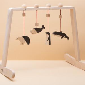 Zestaw Baby Gym - Czarno Naturalne Zwierzęta