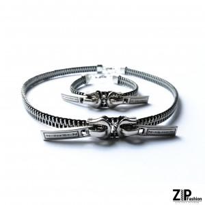 Zestaw biżuterii choker i bransoletka