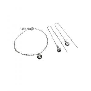 Zestaw biżuterii z cyrkonią