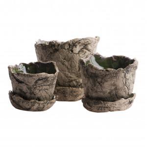 Zestaw ceramicznych doniczek