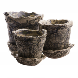 Zestaw ceramicznych doniczek 2