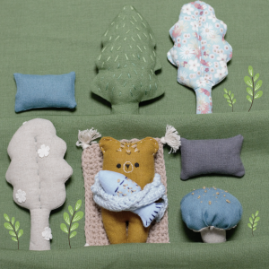 Zestaw leśne zwierzątka-Niedźwiedź kamczacki.