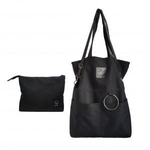 Zestaw torba i kosmetyczka City Noise Black XL