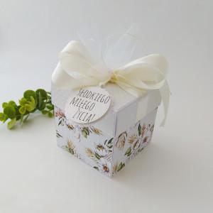 Zieleń i biel- pudełko ślubne