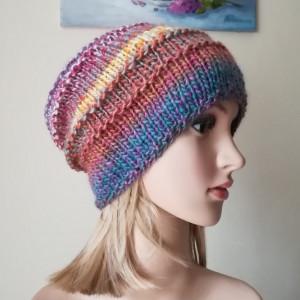 Zima w pastelach czapka