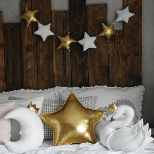 Złota gwiazda poduszka