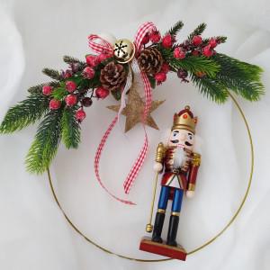 Złota obręcz świąteczna - wianek