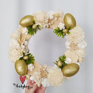 Złote Jajo- wianek wielkanocny wiosenny