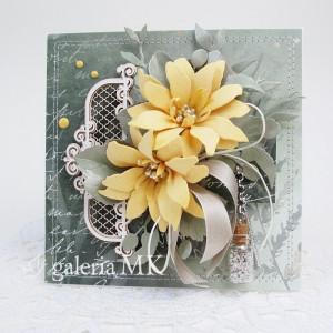 Żółte kwiaty - w pudełku
